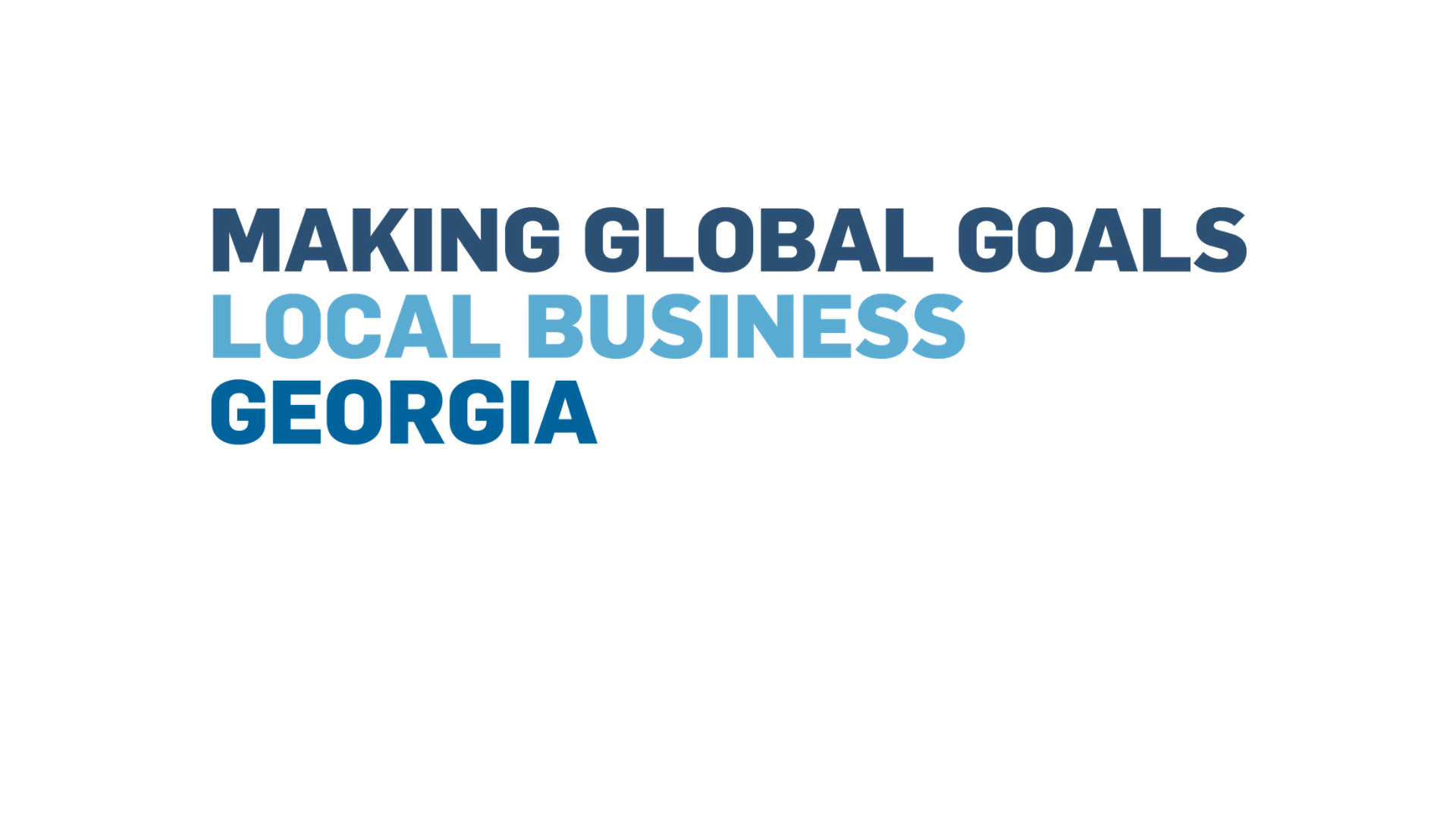 Making Global Goals Local Business у Грузії